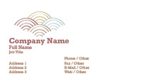 Pastel Semi Circles Business Card Template